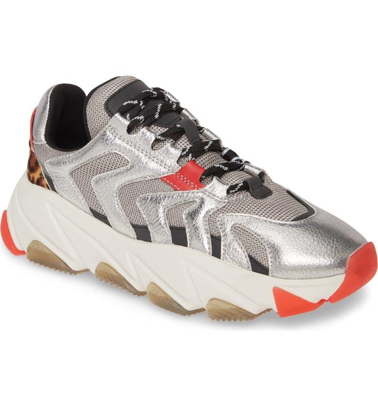 ASH Extreme Platform Sneaker, Main, color, SILVER/ GUN/ RED/ LEOPARD