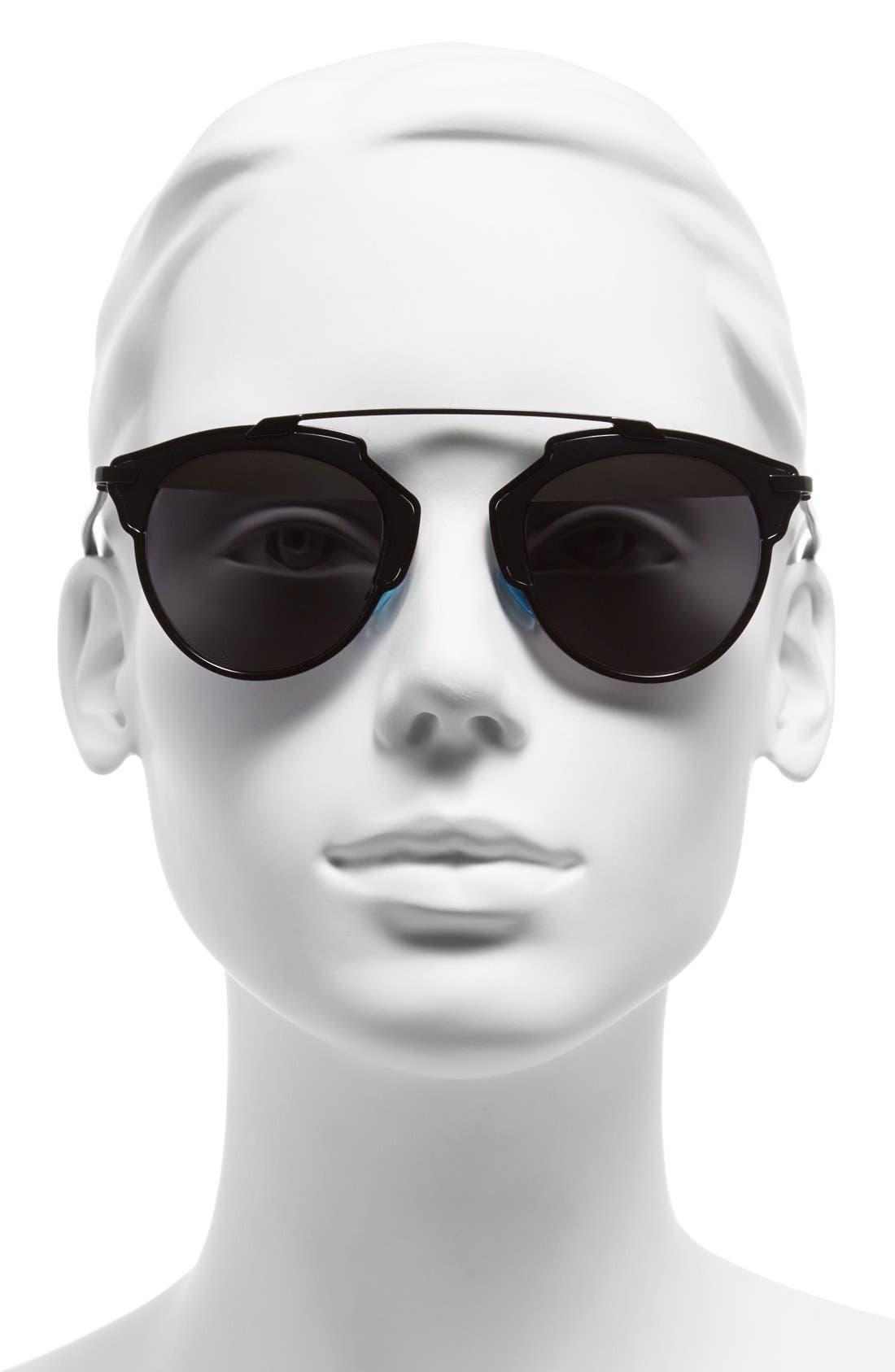 ,                             So Real 48mm Brow Bar Sunglasses,                             Alternate thumbnail 5, color,                             001
