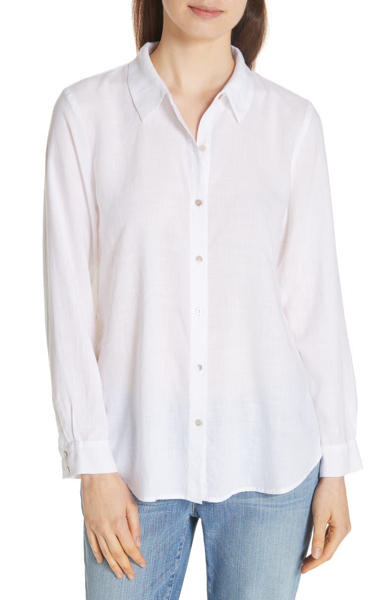 Eileen Fisher Tencel Lyocell Shirt Regular Petite