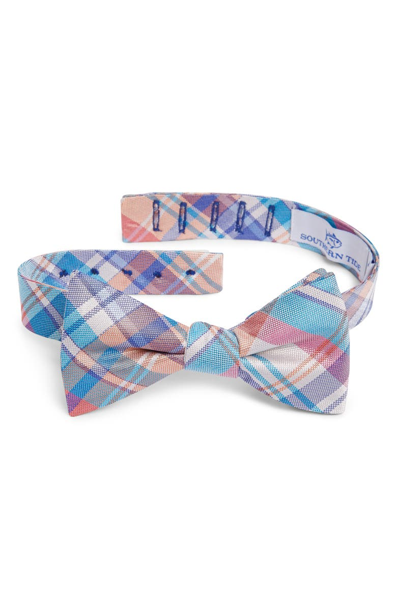 SOUTHERN TIDE Boca Vista Plaid Silk Bow Tie, Main, color, 450