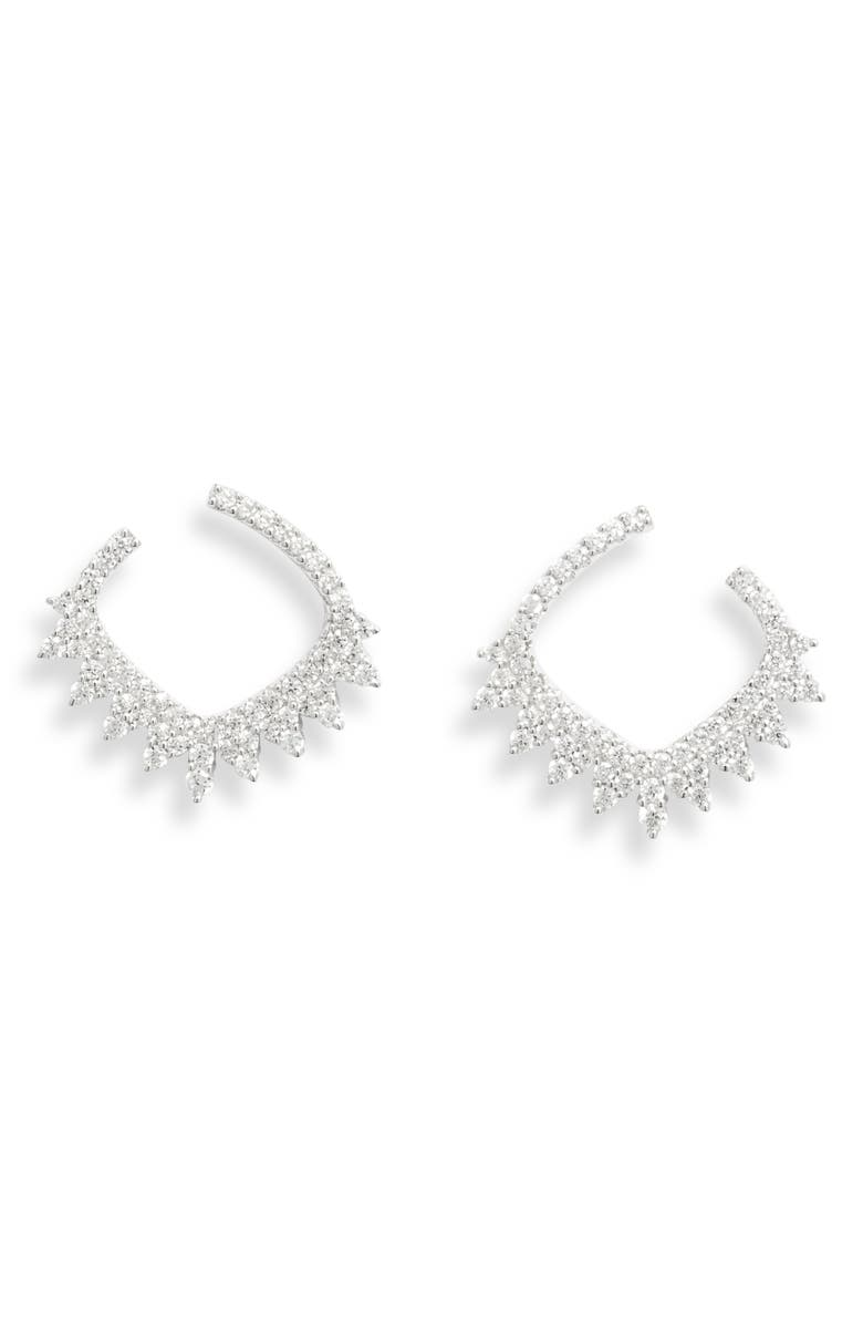APM MONACO The Flamenco Collection Dentelle Earrings, Main, color, SILVER