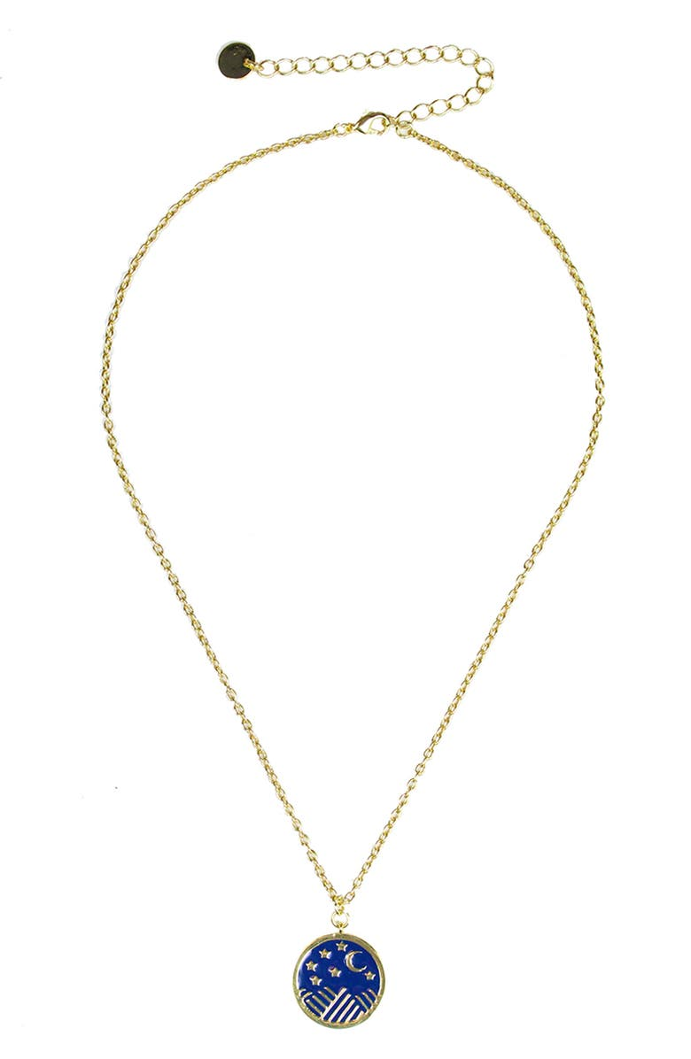 JULES SMITH Pendant Necklace, Main, color, GOLD/ BLUE
