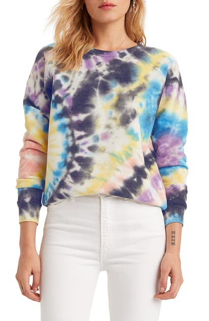 Mother Tops THE HUGGER TIE DYE LONG SLEEVE COTTON TEE