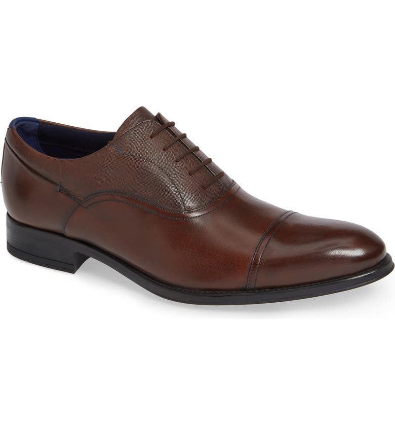 TED BAKER LONDON Fhares Cap Toe Oxford, Main, color, BROWN