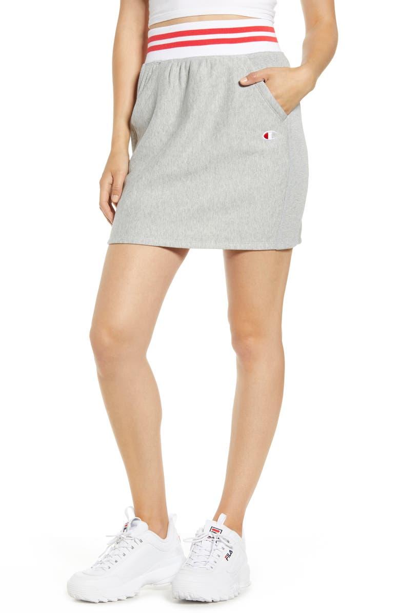 CHAMPION Yarn Dyed Stripe Waist Skirt, Main, color, 020