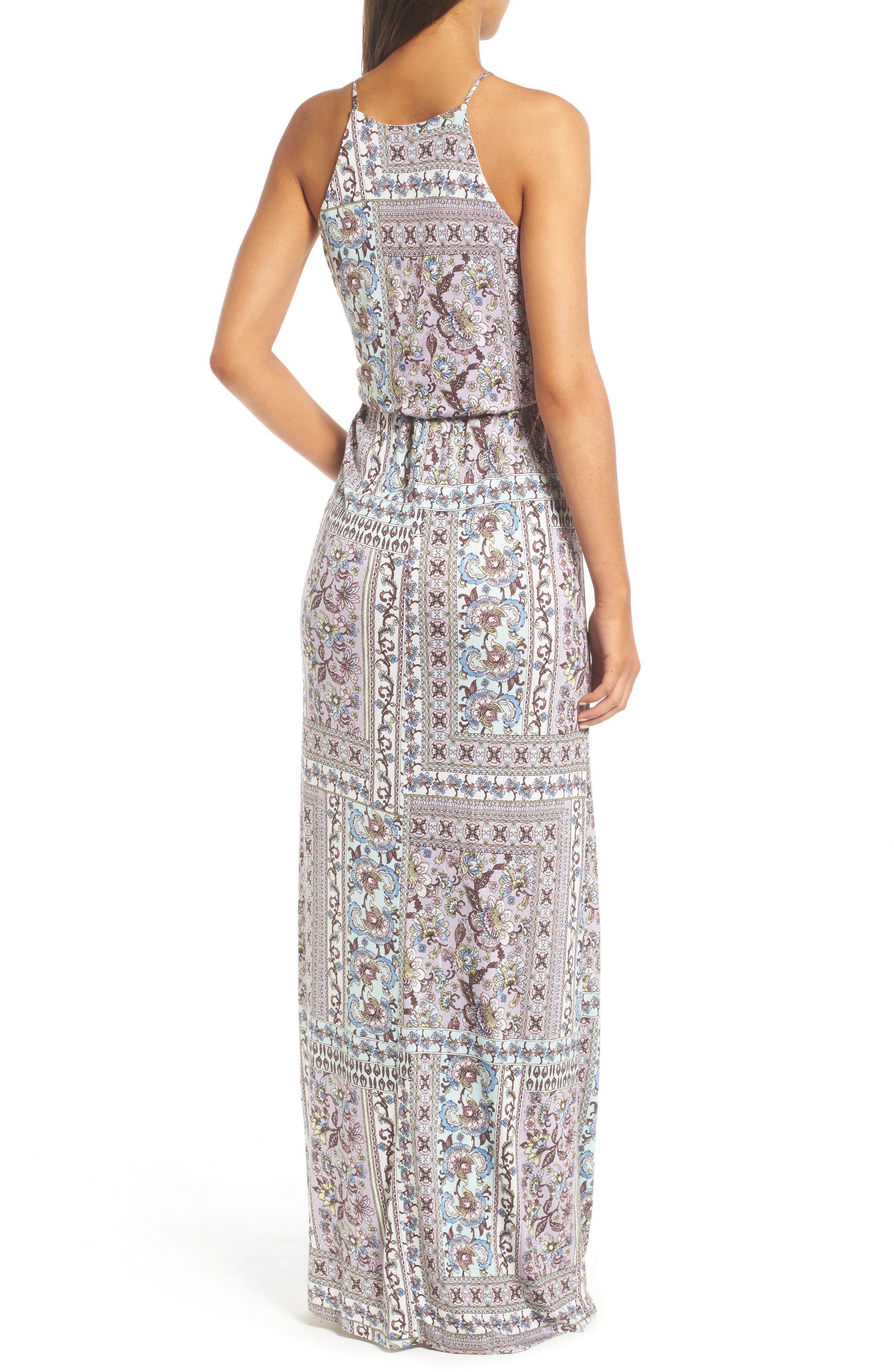 ,                             High Neck Maxi Dress,                             Alternate thumbnail 42, color,                             020