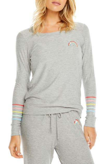 Chaser Tops RAINBOW BOLT COZY PULLOVER
