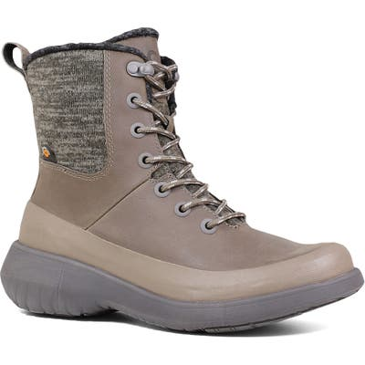 Bogs Freedom Waterproof Lace-Up Boot, Grey