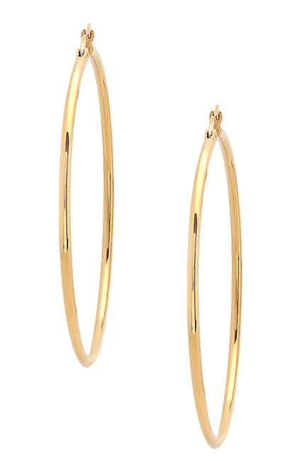 Image of HMY Jewelry Polished Hoop Earrings