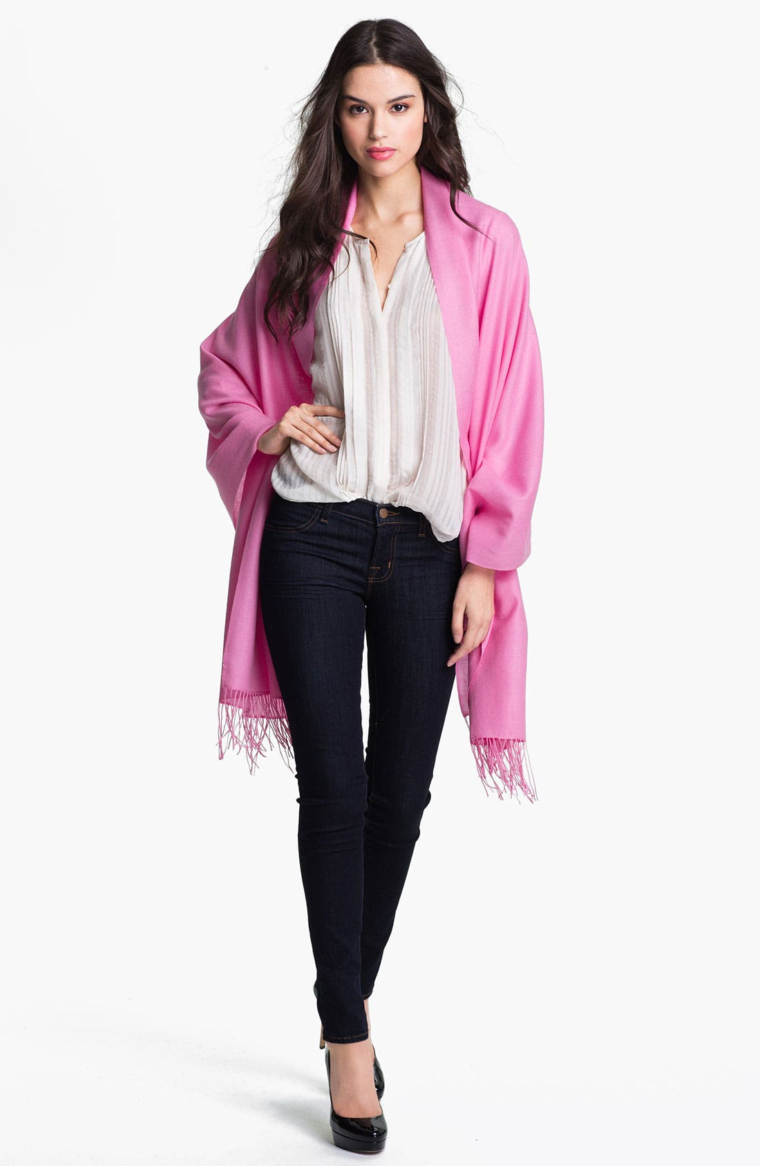 ,                             Tissue Weight Wool & Cashmere Wrap,                             Main thumbnail 178, color,                             655