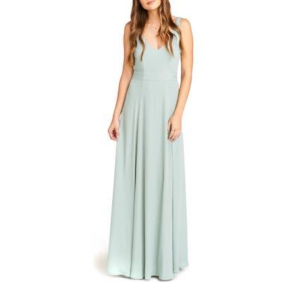 Show Me Your Mumu Jen Chiffon A-Line Gown, Grey