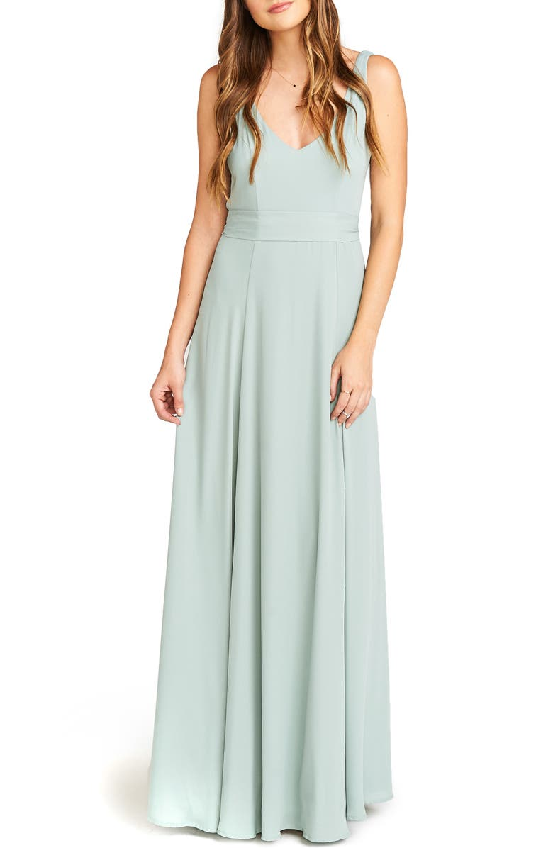 SHOW ME YOUR MUMU Jen Maxi Gown, Main, color, SILVER SAGE