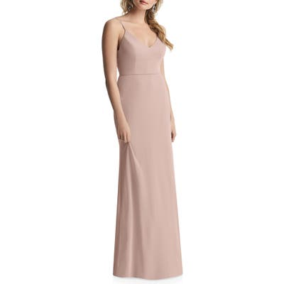 After Six Cowl Back Chiffon Trumpet Gown, 8 (similar to 1) - Pink