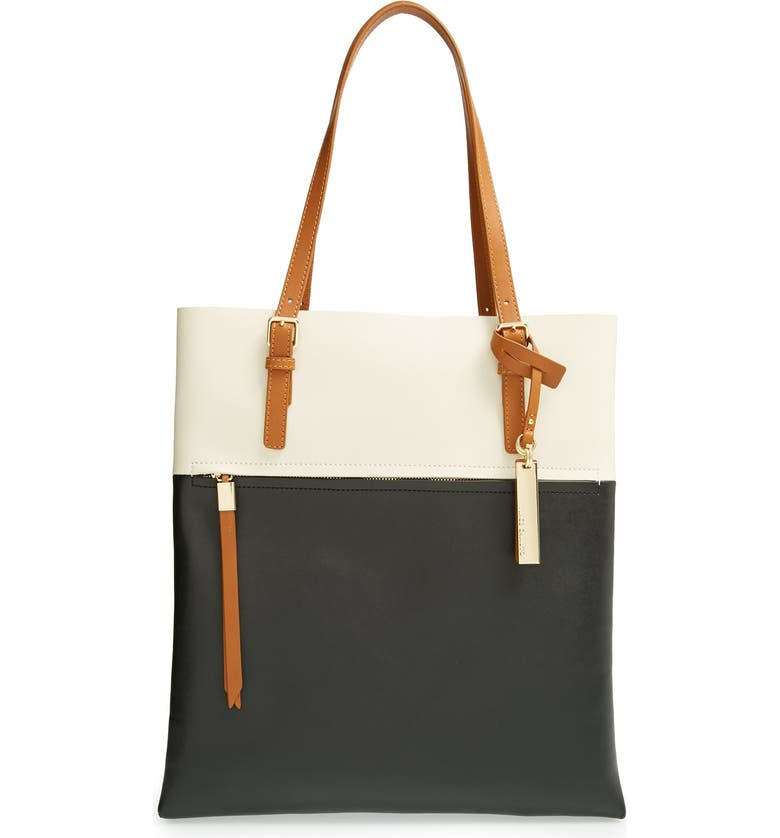 3bfbdeba0 Vince Camuto 'Tyler' Two-Tone Leather Tote | Nordstrom