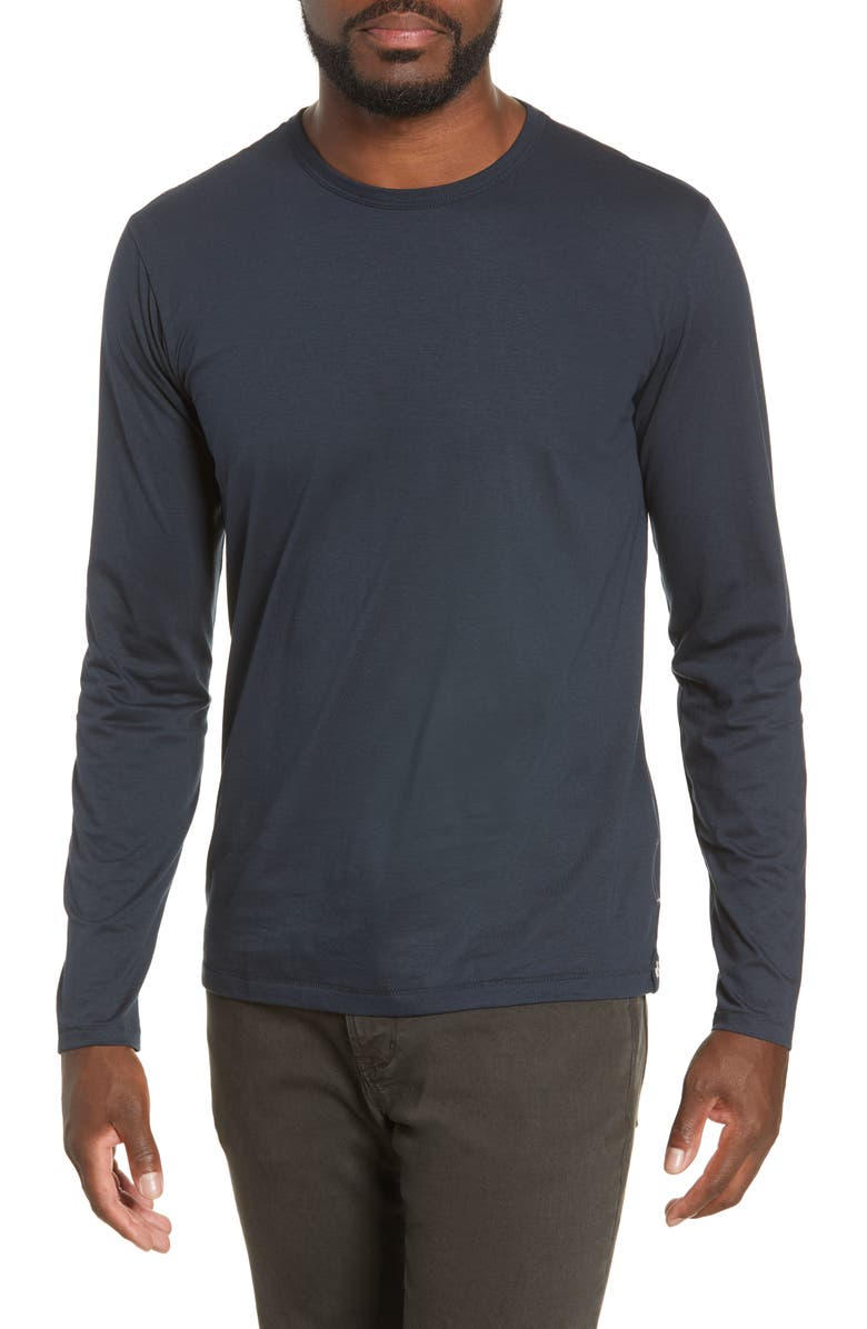 RAG & BONE Classic Base Slim Fit T-Shirt, Main, color, NAVY
