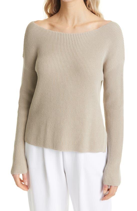 Max Mara Sweatshirts WIDE BOATNECK RIBBED SWEATER