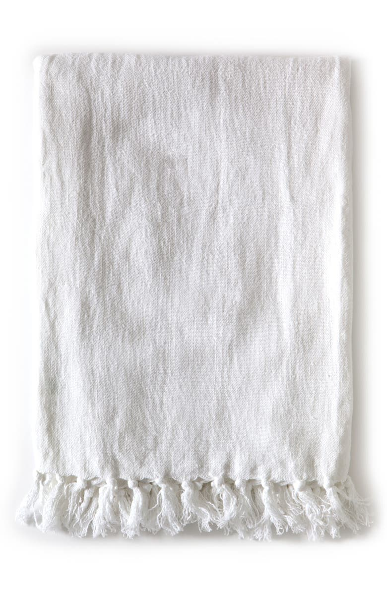 POM POM AT HOME Montauk Throw Blanket, Main, color, WHITE