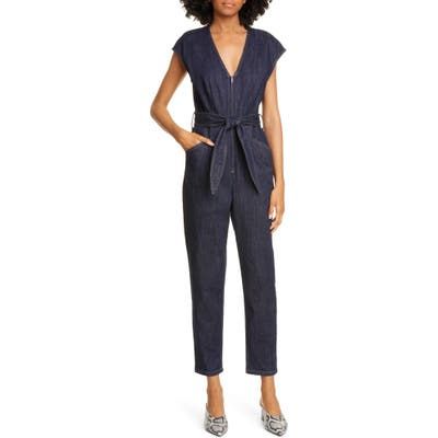 La Vie Rebecca Taylor Denim Jumpsuit, Blue