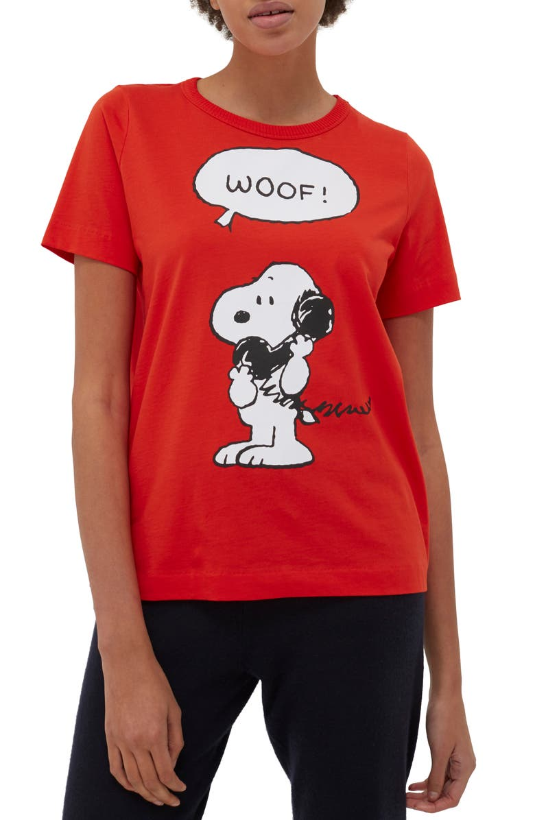 CHINTI & PARKER x Peanuts<sup>®</sup> Snoopy Woof Graphic Tee, Main, color, 600
