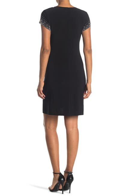 Image of TASH + SOPHIE Beaded Cap Sleeve Jersey Dress