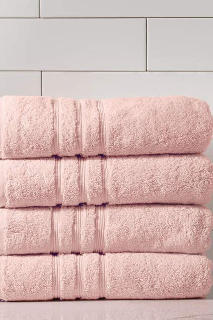 Image of Modern Threads Manor Ridge Turkish Cotton 700 GSM Bath Towel - Set of 4 - Blush