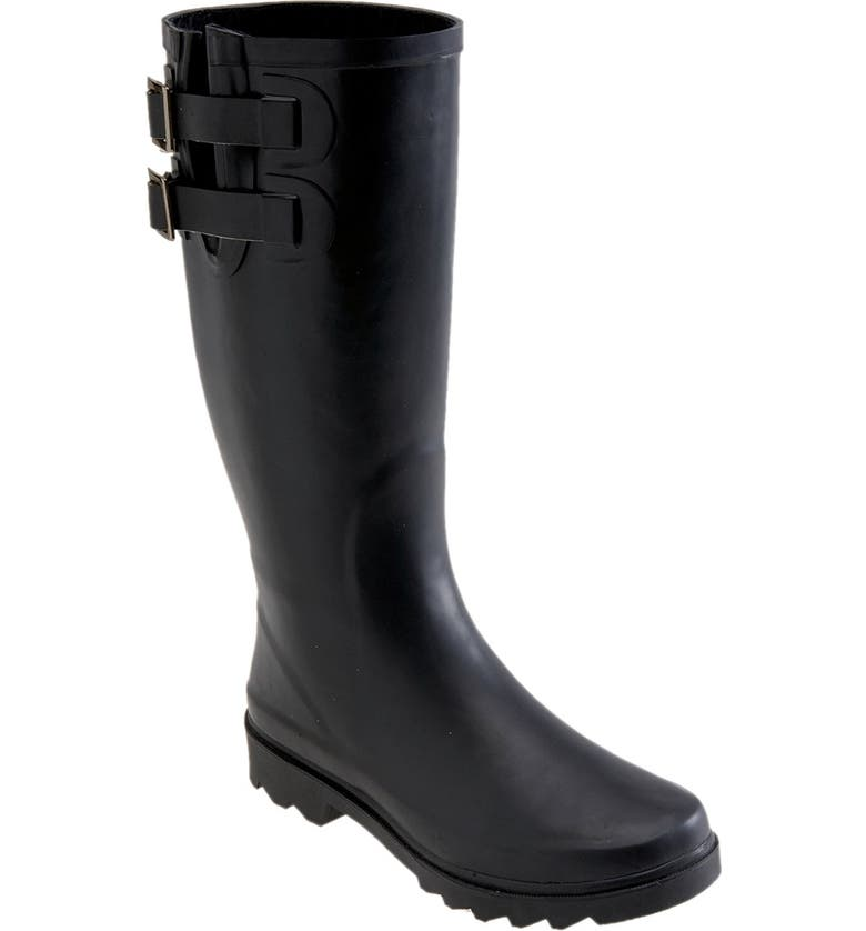 CHOOKA Signature Dual Buckle Rain Boot, Main, color, 001