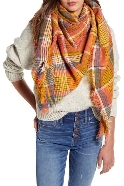 Image of Madewell Multi Plaid Print Blanket Scarf