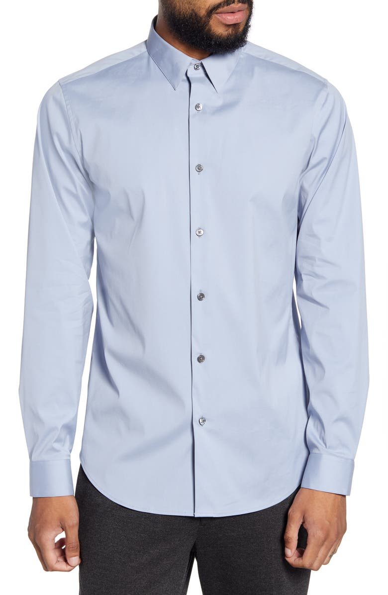 THEORY Sylvain Slim Fit Button-Up Shirt, Main, color, WAVE