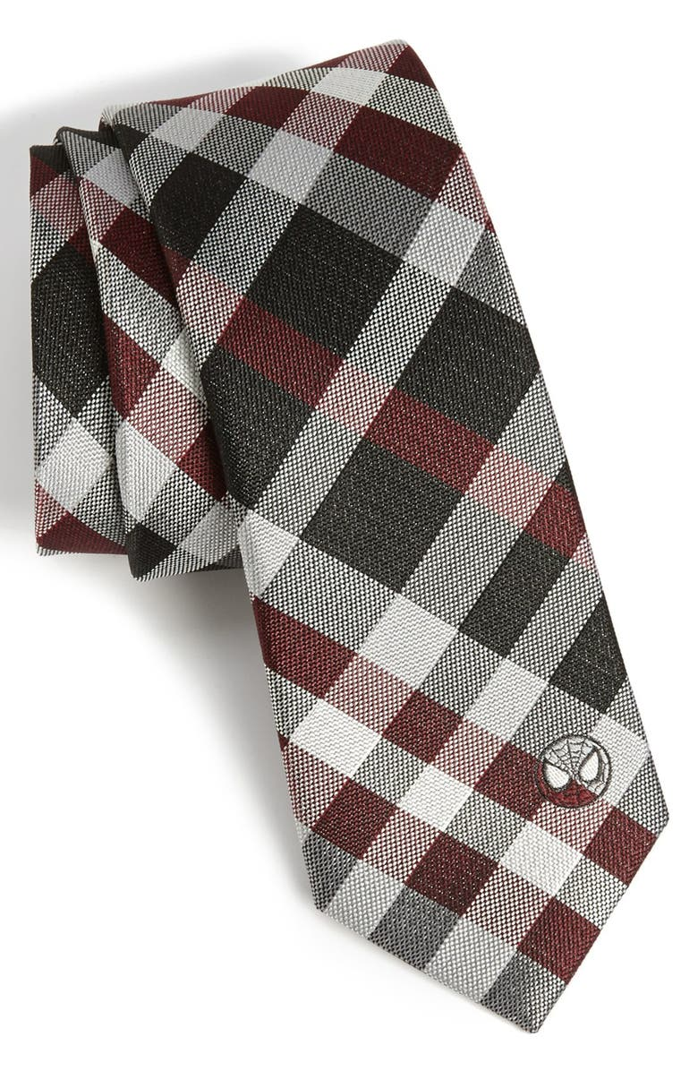 MARVEL Spider-Man<sup>®</sup> Plaid Tie, Main, color, 930