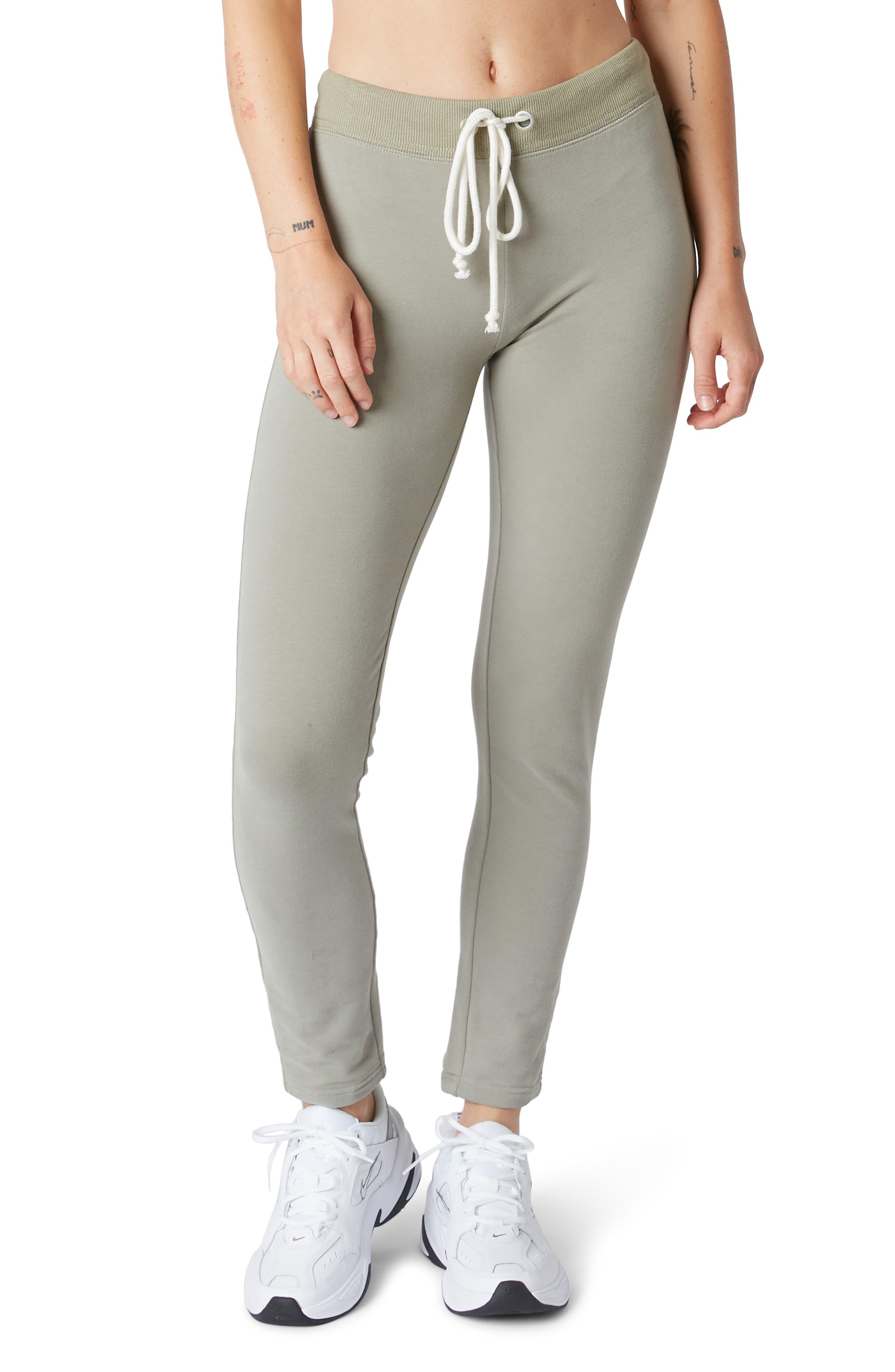 Women's Nia High Waist Slim Sweatpants,  Small - Green