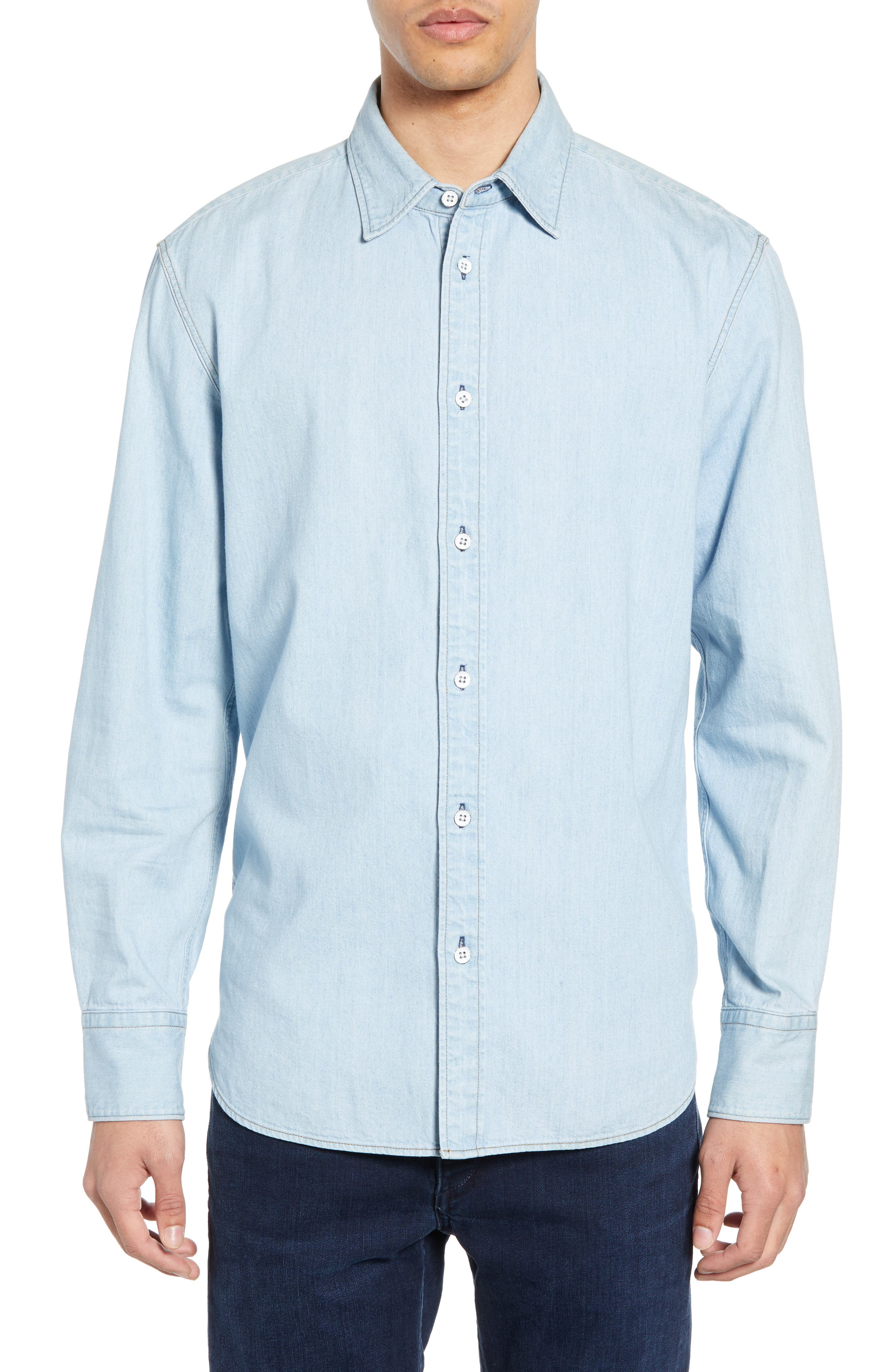 ,                             Fit 3 Regular Fit Denim Shirt,                             Main thumbnail 1, color,                             DUSK