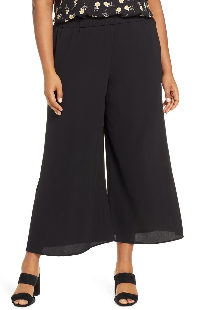VINCE CAMUTO Slit Wide Leg Pants, Main, color, 006
