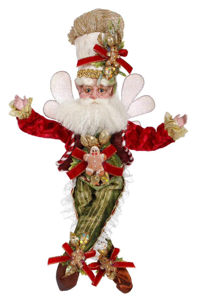 MARK ROBERTS Gingerbread Maker Fairy, Main, color, RED SMALL