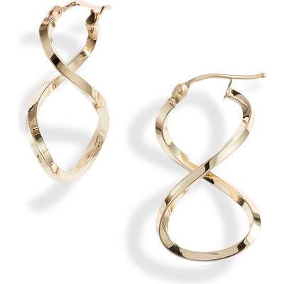 Bony Levy Open Twist Hoop Earrings (Nordstrom Exclusive)