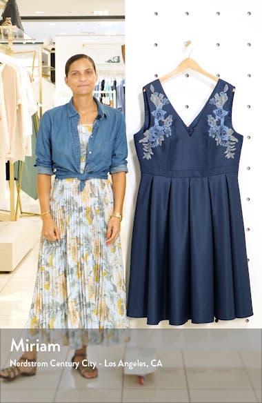 Curve Kyla Appliqué Detail Fit & Flare Party Dress, sales video thumbnail