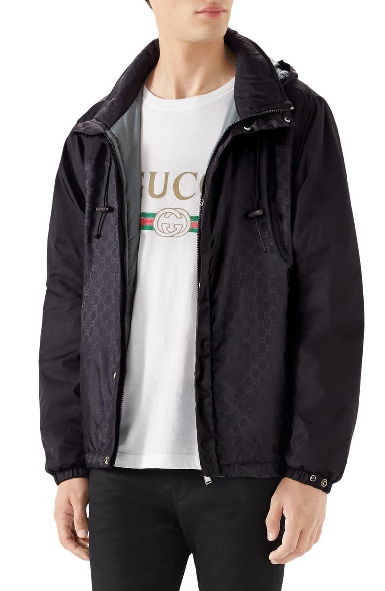 GUCCI Windbreaker, Main, color, BLACK