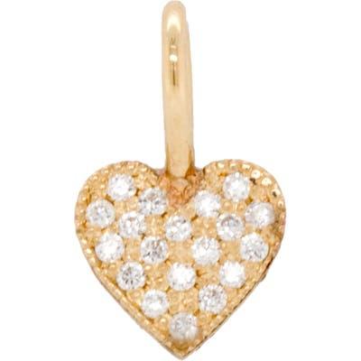 Zoe Chicco Bitty Diamond Pave Heart Charm