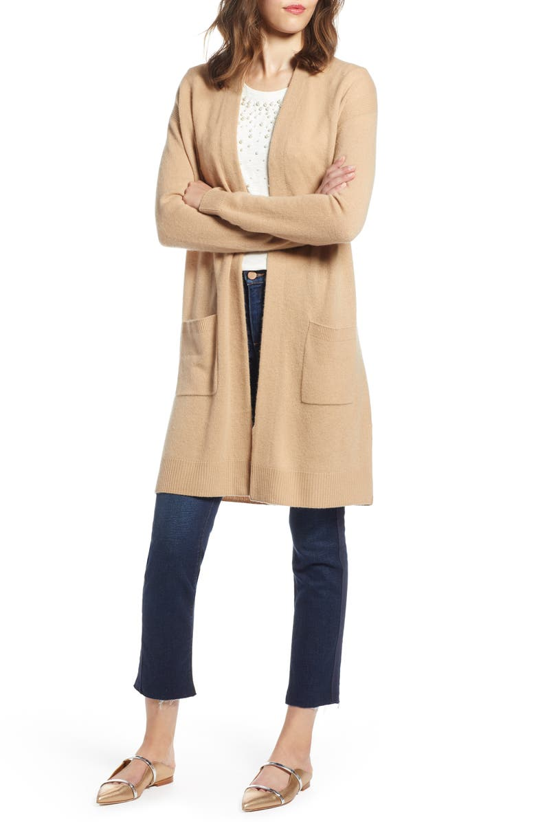 HALOGEN<SUP>®</SUP> Rib Knit Wool & Cashmere Cardigan, Main, color, 230