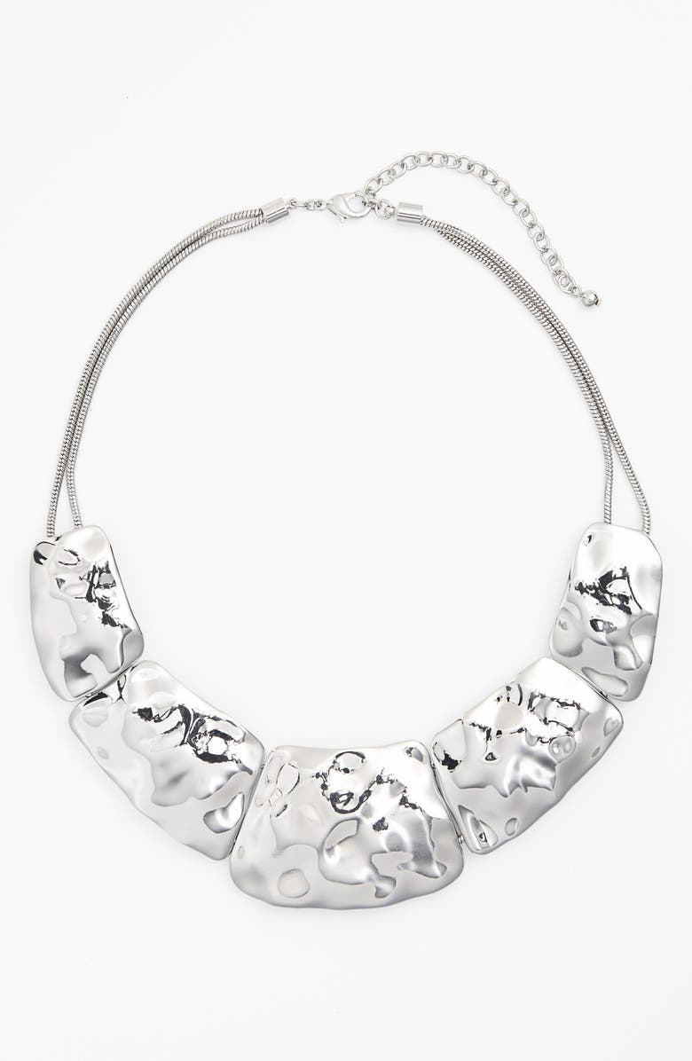 NORDSTROM 'Gold Water' Hammered Collar Necklace, Main, color, 040