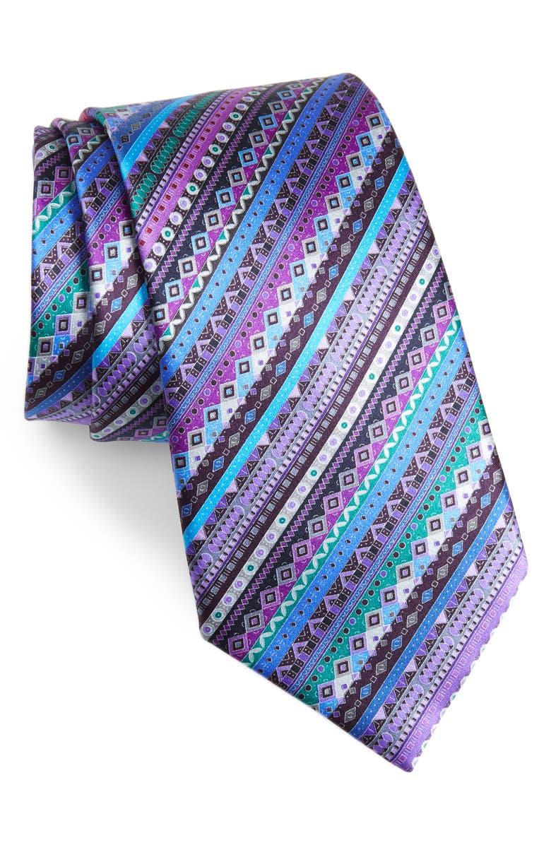 9347873f Ermenegildo Zegna Venticinque Stripe Silk Tie | Nordstrom