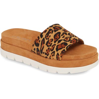 Jslides Bibi Platform Sandal- Brown