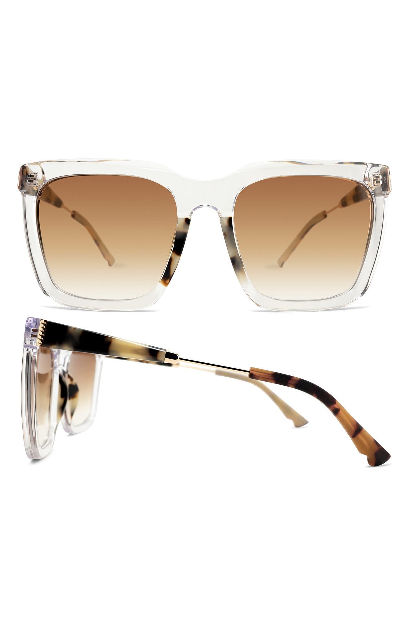 Lively 55mm Gradient Square Sunglasses