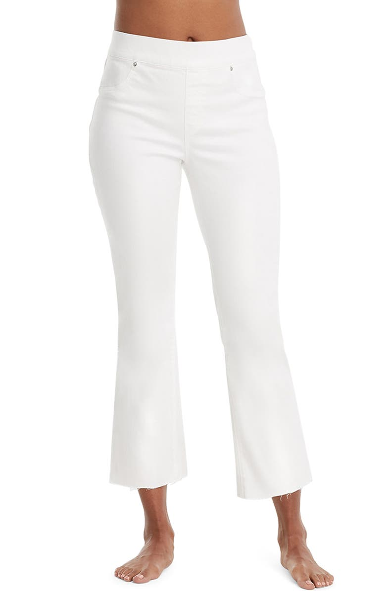SPANX<SUP>®</SUP> Crop Flare Denim Leggings, Main, color, WHITE