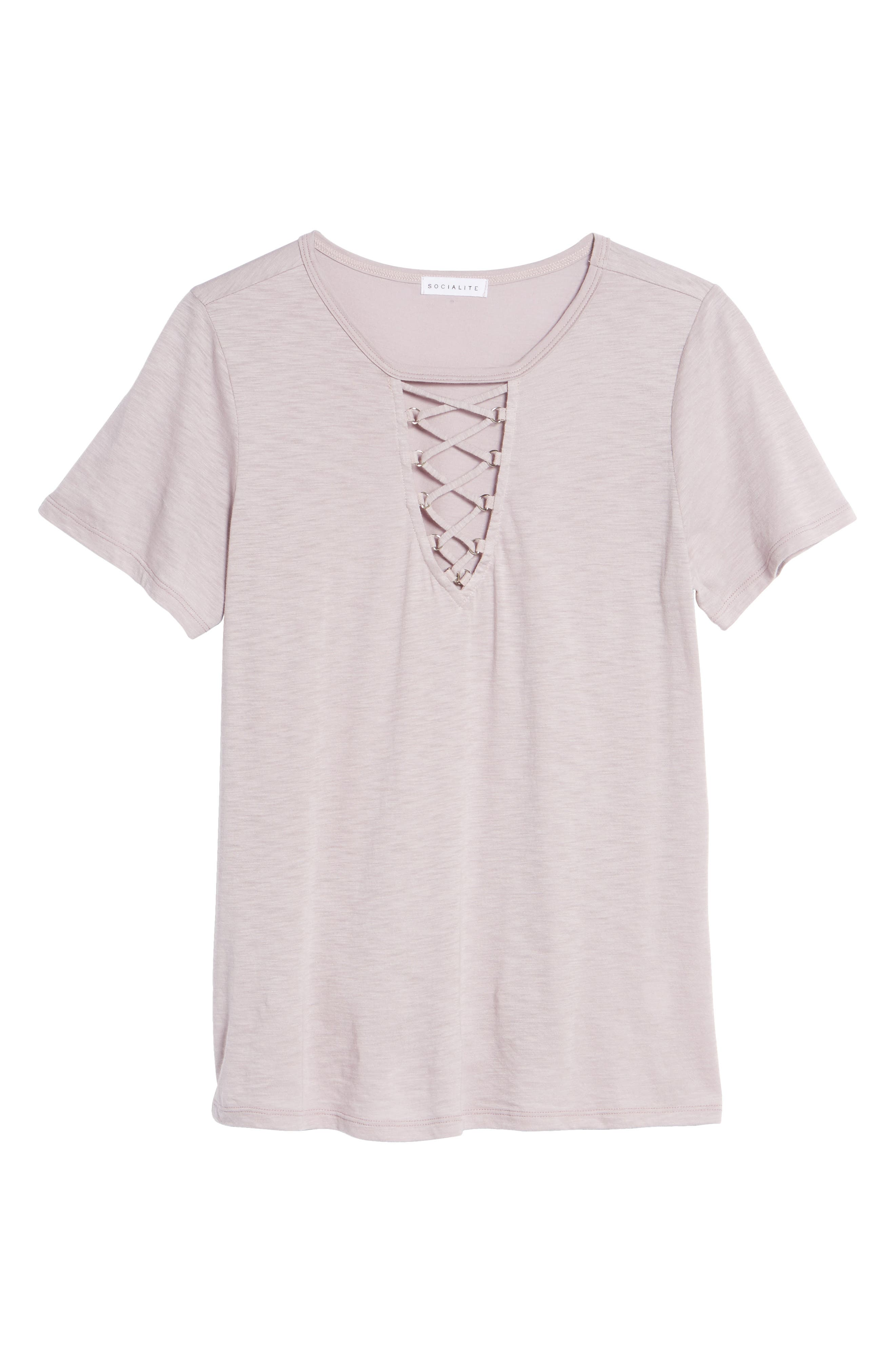 ,                             Grommet Lace-Up Tee,                             Alternate thumbnail 17, color,                             542