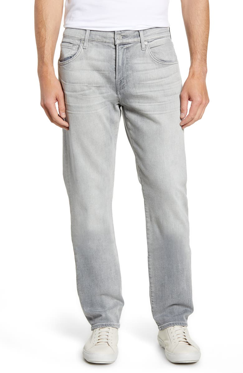 7 FOR ALL MANKIND<SUP>®</SUP> The Straight Slim Straight Leg Jeans, Main, color, ALTRUIST GREY