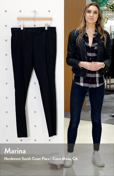 Gilan CYL Flat Front Slim Fit Wool Dress Pants, sales video thumbnail