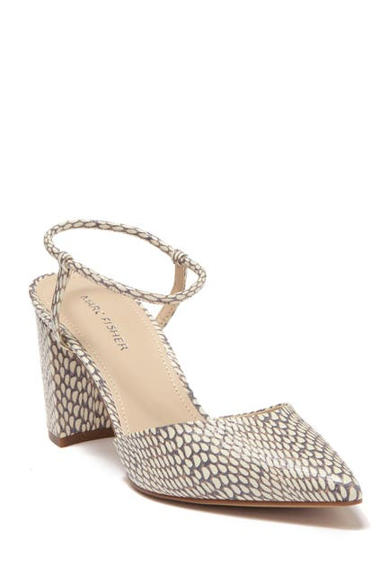 Image of Marc Fisher Callo 2 Snakeskin Embossed Dress Pump