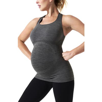 Blanqi Sportsupport Maternity Support Crossback Tank, Grey