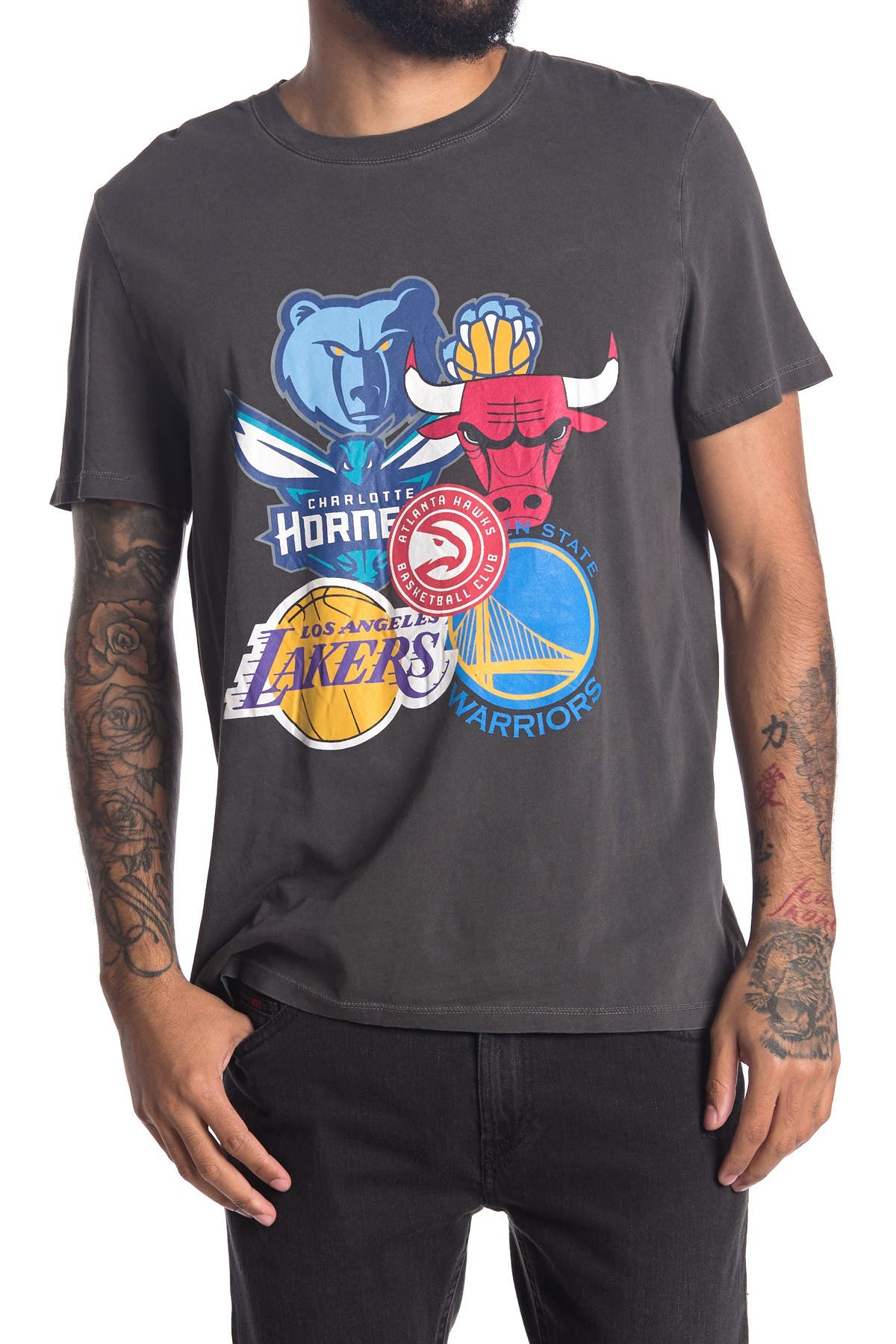 Image of Zadig & Voltaire NBA Logo Mix Cotton T-Shirt