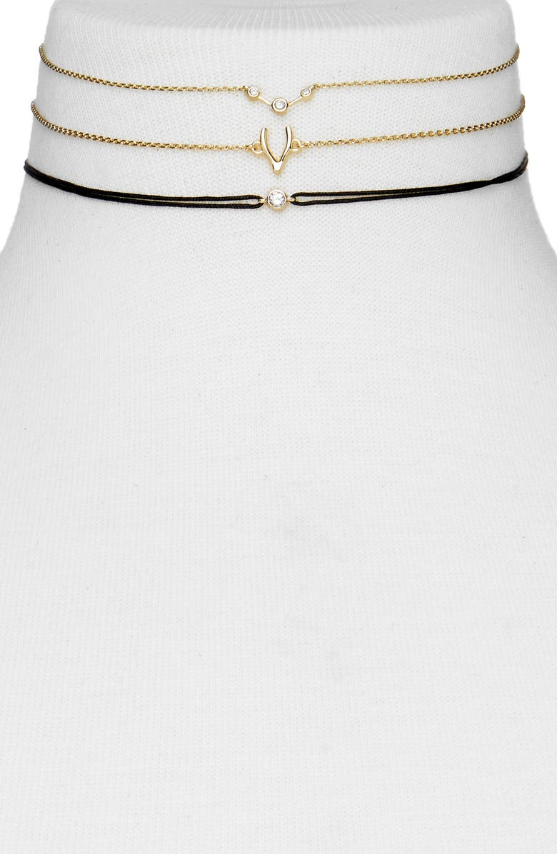 BAUBLEBAR Azami Set of 3 Chokers, Main, color, 710